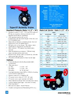 lower bolt tightening torque and valve body shall have Classification