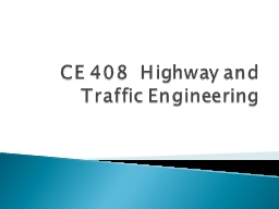 CE  408  Highway and