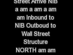 Wall StreetNIB Mitchell ield ON Monda riday Bus St ops NIB Wall Street Arrive NIB a am a am a am am Inbound to NIB Outboud to Wall Street Structure NORTH am am am am am am pm pm pm pm pm pm pm pm pm