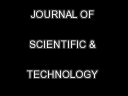 INTERNATIONAL JOURNAL OF SCIENTIFIC & TECHNOLOGY RESEARCH VOLUME  ...