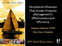 Peripheral Influences That Hinder Property Management's Eff
