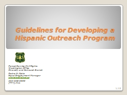Guidelines for Developing a Hispanic Outreach Program PowerPoint PPT Presentation