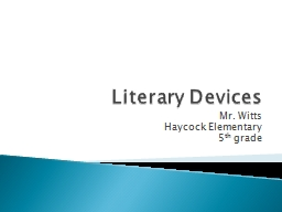 Literary Devices PowerPoint PPT Presentation