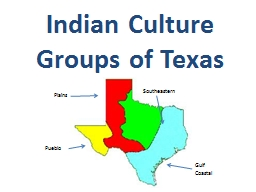 Indian Culture Groups of Texas