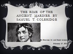 The Rime of the Ancient Mariner by Samuel T. Coleridge