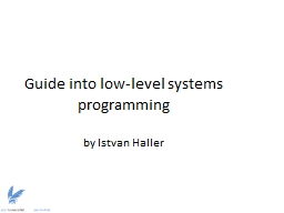 Guide into low-level systems programming