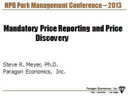 NPB Pork Management Conference -- 2013 PowerPoint PPT Presentation