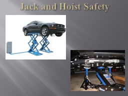 Jack and Hoist Safety