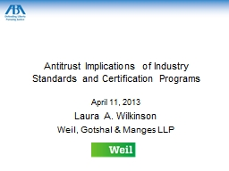Antitrust Implications of Industry Standards and Certificat