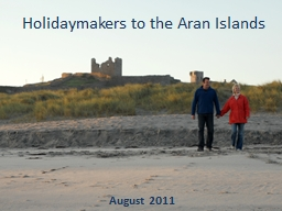 Holidaymakers to the Aran Islands