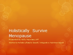 Holistically Survive Menopause