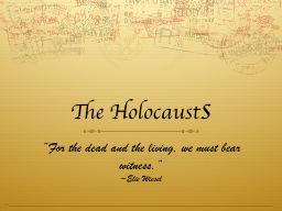 The Holocaust PowerPoint PPT Presentation