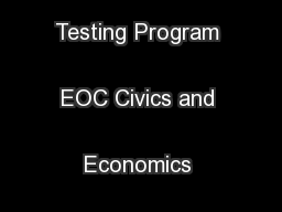 North Carolina Testing Program EOC Civics and Economics Sample Items .