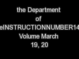 the Department of DefenseINSTRUCTIONNUMBER1400.25, Volume March 19, 20 PowerPoint PPT Presentation