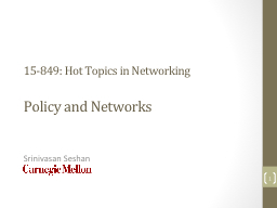 15-849: Hot Topics in Networking