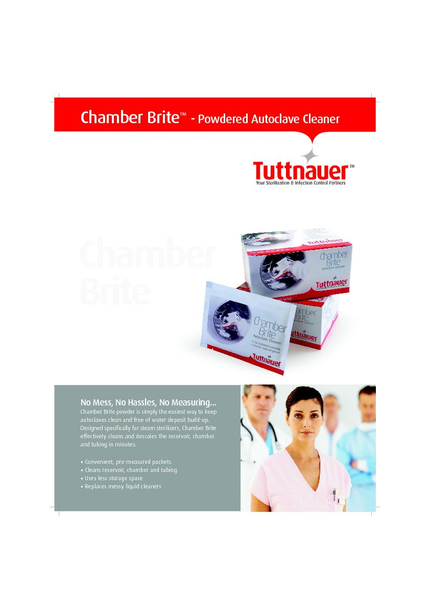 Chamber BritePowdered Autoclave Cleaner Convenient, pre-measured packe