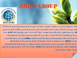 OMICS Group PowerPoint PPT Presentation