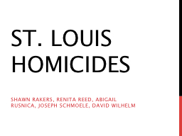 St. Louis Homicides