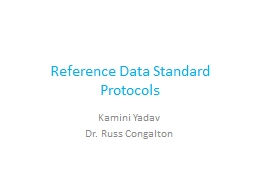 Reference Data Standard Protocols