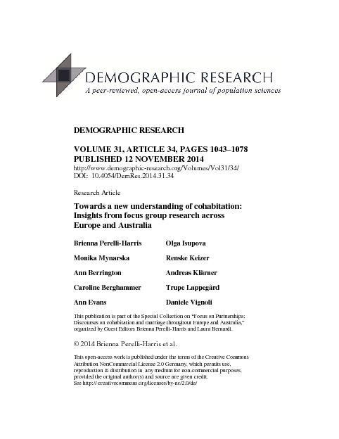 DEMOGRAPHIC RESEARCH
