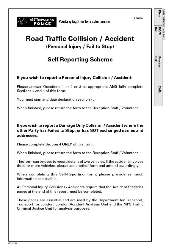 Road Traffic Collision / Accident PowerPoint PPT Presentation