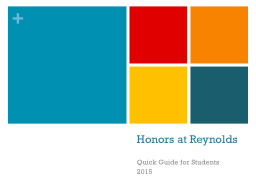 Honors at Reynolds
