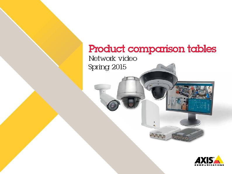 Product comparison tablesNetwork videoSpring 2015