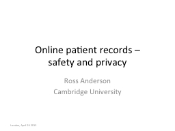 Online patient records –