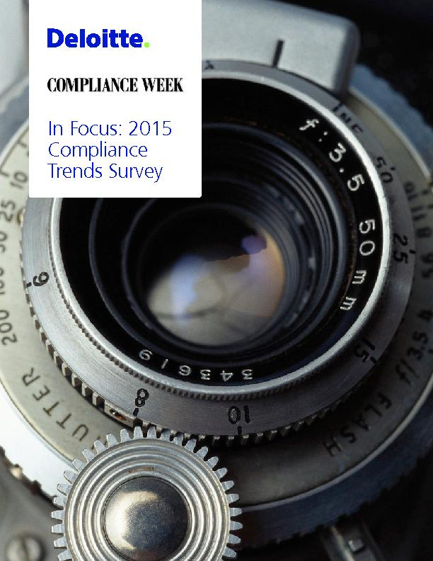 In Focus: 2015 Compliance Trends Survey