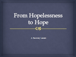 From Hopelessness