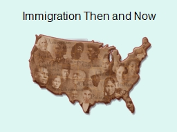 Immigration Then and Now PowerPoint PPT Presentation