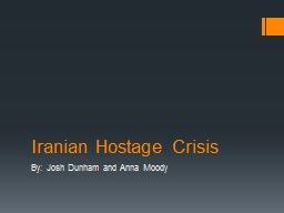 Iranian Hostage Crisis PowerPoint PPT Presentation