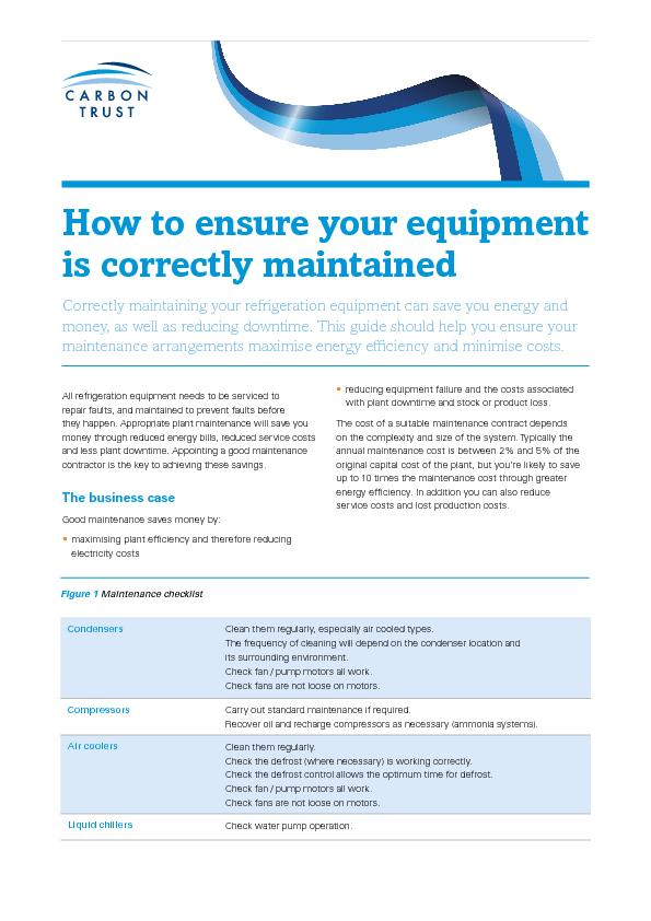How to ensure your equipment is correctly maintainedCorrectly maintain PowerPoint PPT Presentation