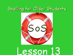 Spelling for Older Students