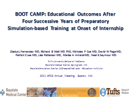 BOOT CAMP: Educational Outcomes After