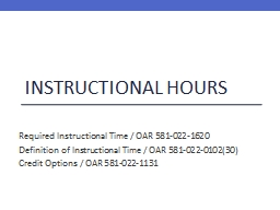 Instructional Hours PowerPoint PPT Presentation