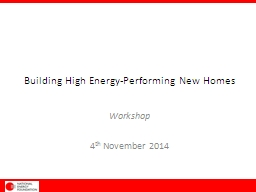 Building High Energy-Performing New Homes