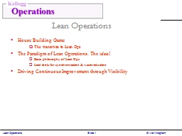 Lean PowerPoint PPT Presentation