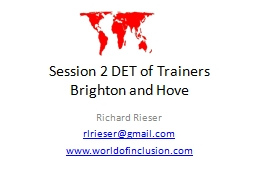 Session 2 DET of Trainers