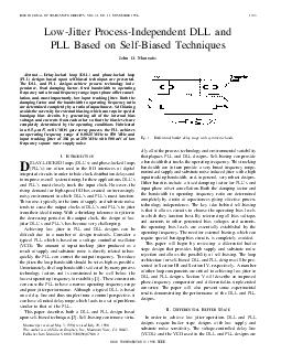 IEEE JOURNAL OF SOLIDSTATE CIRCUITS VOL PowerPoint PPT Presentation