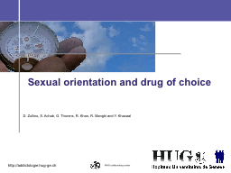 Sexual orientation and drug of choice PowerPoint PPT Presentation