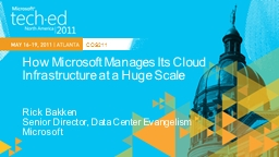 How Microsoft Manages Its Cloud Infrastructure at a Huge Sc