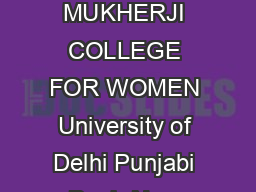 Page of SHYAMA PRASAD MUKHERJI COLLEGE FOR WOMEN University of Delhi Punjabi Bagh New Delhi   Advertisement No