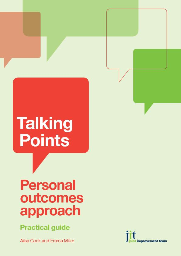 TalkingPointsPersonal outcomes approachPractical guideAilsa Cook and E