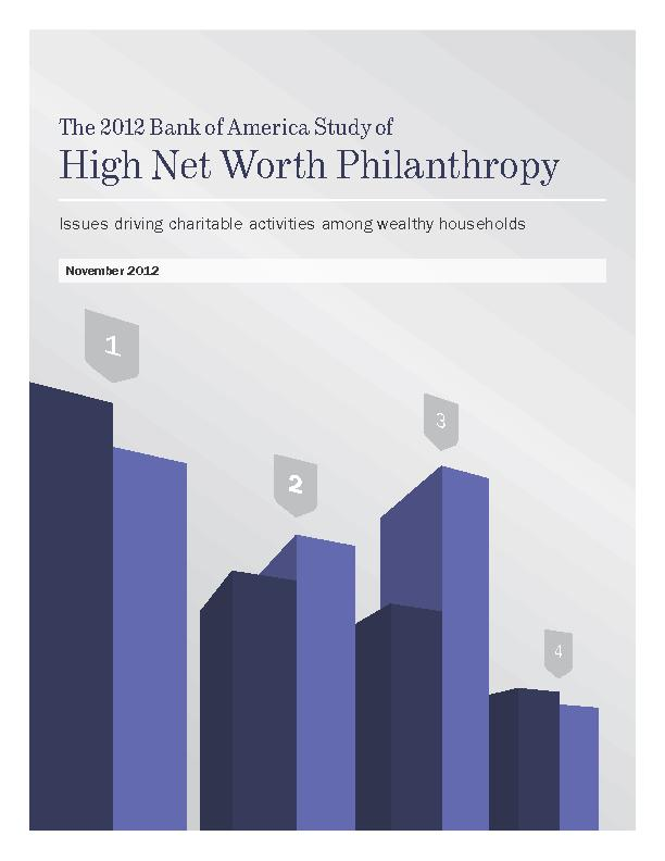 The 2012 Bank of America Study of High Net Worth PhilanthropyIssues dr