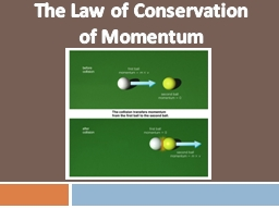 The Law of Conservation