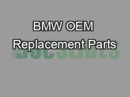 BMW OEM Replacement Parts