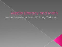 Media Literacy and Math