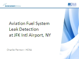 Aviation Fuel System Leak Detection