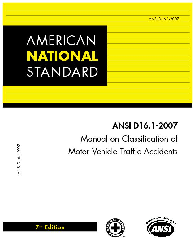 Manual on Classication ofMotor Vehicle Trafc Accidents
